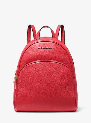 Michael Kors Abbey Medium Pebbled Leather Backpack
