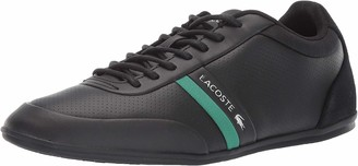 Lacoste Men's STORDA Sneaker black/green 7 Medium US