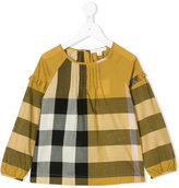 Burberry check ruffle blouse