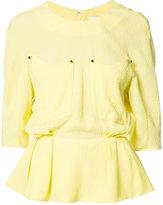 Thierry Mugler peplum blouse - women - Viscose/Acetate/Silk - 34