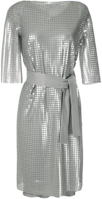Gloria Coelho Sequins Belted Dress