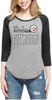 '47 Women's Pittsburgh Steelers Club Block Raglan T-Shirt