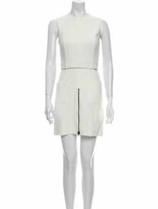 Tom Ford Crew Neck Mini Dress White
