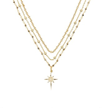 ela rae Layered Chain Starburst Necklace