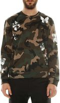 Valentino Mariposa Flowers And Butterfly Camouflage Sweatshirt