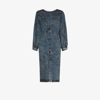 Isabel Marant Pouf Sleeve Denim Midi Dress