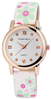 Donna Kelly Womens Analogue Quartz Watch with Leather Strap 191232100006