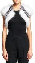 Oscar de la Renta Striped Fox Fur Bolero
