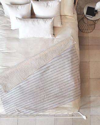 Express Deny Designs Aegean Wide Stripe Fleece Throw Blanket