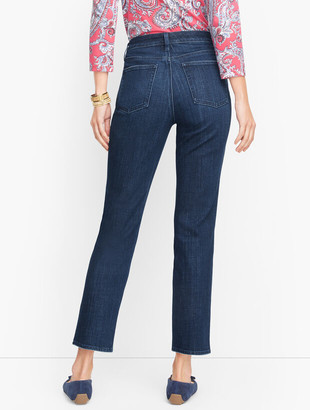 Talbots Plus Size Exclusive Modern Ankle Jeans - Curvy Fit - Ocean Wash