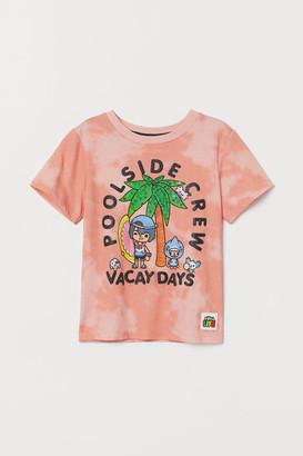 H&M Printed T-shirt - Orange