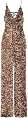 Jonathan Simkhai Leopard-print crepe jumpsuit