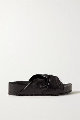 Proenza Schouler Knotted Leather Slides - Black