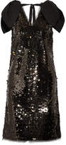 Rejina Pyo Faye Poplin-trimmed Sequined Tulle Mini Dress