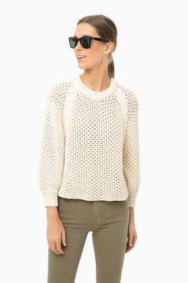 Apiece Apart Cream Merel Funnel Neck Sweater