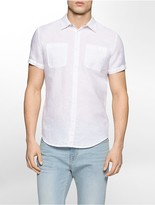 Calvin Klein Slim Fit Vertical Stripe Short Sleeve Shirt