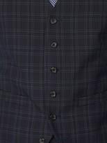 Jeff Banks Jeff Banks Check Brit Waistcoat In Super Slim Fit - Blue