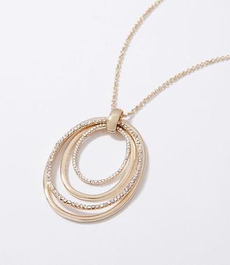 LOFT Pave Pendant Necklace