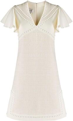 Giambattista Valli studded v-neck dress