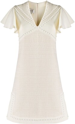Giambattista Valli Studded V-Neck Dress