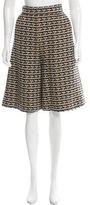 Valentino Patterned Wide-Leg Culottes w/ Tags