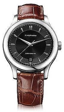 Chopard L.U.C Classic Black Dial Brown Leather Automatic Men's Watch