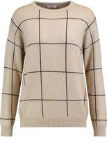 Brunello Cucinelli Checked Sequin-Embellished Cashmere And Silk-Blend Sweater