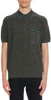 Lanvin Contrast-Trim Piqué; Polo Shirt