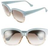 Balenciaga Women's Paris 59Mm 'Ba0015' Sunglasses - Aquamarine Gradient/ Brown