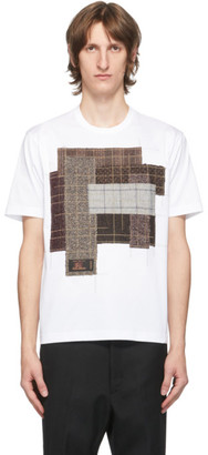 Junya Watanabe White and Red Cotton Patchwork T-Shirt