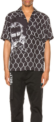 Off-White Broken Fence Holiday Shirt in Black & White   FWRD