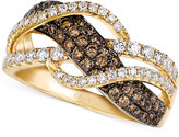 LeVian Le Vian Chocolate and White Diamond Woven Ring in 14k Gold (1 ct. t.w.)