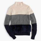 J.Crew Collection colorblock shearling sweater