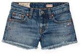 Ralph Lauren Girls 7-16 Toddlers, Little Girls and Girls Paint Splatter Cutoff Shorts