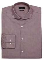 Boss Jason Micro-Houndstooth Slim Fit Dress Shirt