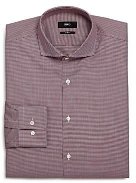Jason Micro-Houndstooth Slim Fit Dress Shirt