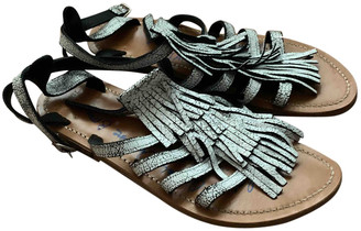 Golden Goose White Leather Sandals