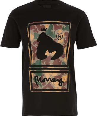 River Island Boys Money Clothing Black camo print T-shirt