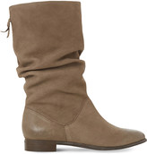 Dune Rosalind ruched leather calf boots