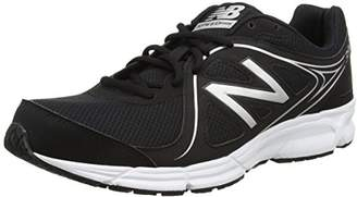 New Balance Men's 390v2 Running Shoes, (Black/White Bw2), 42 1/2 EU