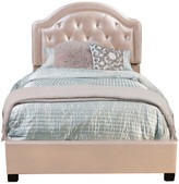 Hillsdale Furniture Karley Bed Set, Rails Included, Champagne Faux Leather, Full