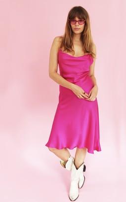 Florence Bridge Sissy Slip Dress (fuchsia)