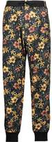 Y-3 + Adidas Originals Floral-Print Cotton-Twill Track Pants