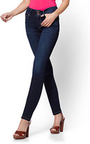 New York & Co. Soho Jeans - High-Waist Legging - Blue Tease Wash - Petite