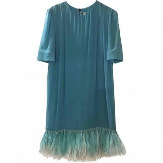 Francesco Scognamiglio Turquoise Silk Dress for Women