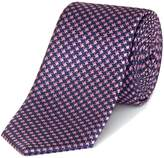 Kenneth Cole Malcolm Textured Stripe Silk Tie