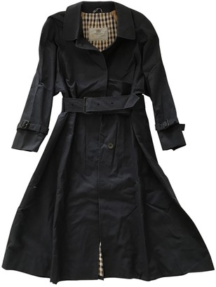 Aquascutum London Navy Cotton Trench Coat for Women