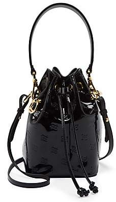 Fendi Women's Mini Mon Tresor Patent Leather Bucket Bag