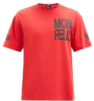 MONCLER GRENOBLE Logo-print Cotton-jersey T-shirt - Red