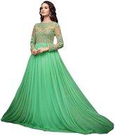 Fab Glory® Fab Glory Women's Net Dress Material(Green Gown_)